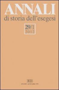 Copertina di 'Annali di storia dell'esegesi (2012)'