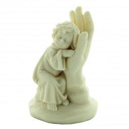 """Copertina di 'Statuetta in resina bianca """"Mano di Dio e bambino"""" - altezza 10 cm'"""