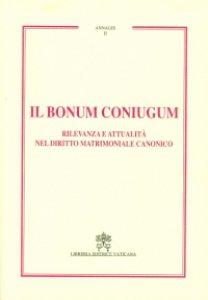 Copertina di 'Il bonum coniugum'