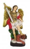 Statua di San Michele Arcangelo da 12 cm in confezione regalo con segnalibro in IT/EN/ES/FR