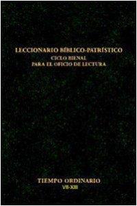 Copertina di 'Leccionario biblico-patristico. Ciclo bienal para el oficio de lectura [vol_5] / Tiempo ordinario VII-XIII'