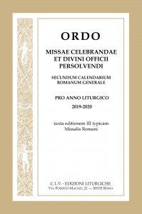 Copertina di 'Ordo Missae celebrandae et Divini Officii persolvendi, secundum calendarium romanum generale'