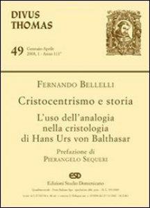 Copertina di 'Cristocentrismo e storia. L'uso dell'analogia nella cristologia di Hans Urs von Balthasar'