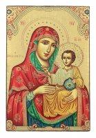 Immagine di 'Icona Madonna di Gerusalemme da tavolo, produzione greca su legno - 9 x 6,5 cm'