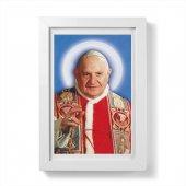 """Quadretto """"Papa Giovanni XXIII"""" con passe-partout e cornice minimal - dimensioni 15x10 cm"""