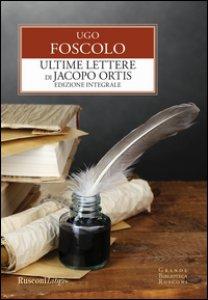 Copertina di 'Ultime lettere di Jacopo Ortis'