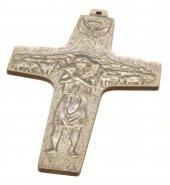 """Croce in legno sintetico da appendere """"Buon pastore"""" - altezza 13 cm"""