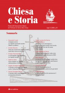 Copertina di 'Chiesa e Storia. 10.2020: Rivista dell'Associazione Italiana dei Professori di Storia della Chiesa'