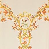 Immagine di 'Coprileggio avorio con agnello ed uva stampati su croce ad Y'