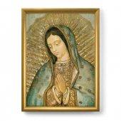 """Quadro """"Madonna di Guadalupe"""" con lamina oro e cornice dorata - dimensioni 44x34 cm"""