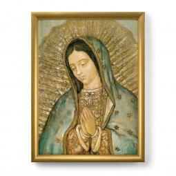 """Copertina di 'Quadro """"Madonna di Guadalupe"""" con lamina oro e cornice dorata - dimensioni 44x34 cm'"""
