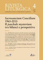 A 50 anni dalla «Sacrosanctum Concilium»: un tentativo di bilancio - Gianni Cavagnoli