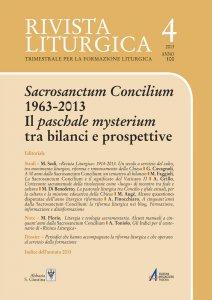 Copertina di 'A 50 anni dalla «Sacrosanctum Concilium»: un tentativo di bilancio'