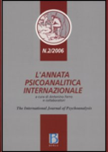 Copertina di 'L' annata psicoanalitica internazionale. The international journal of psychoanalysis (2006)'