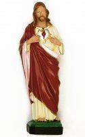 Statua Sacro Cuore di Gesù in materiale infrangibile dipinta a mano - cm 20 di  su LibreriadelSanto.it
