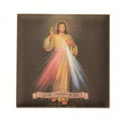 """Copertina di 'Piastrellina magnetica """"Gesù confido in te"""" - dimensioni 4,5 x 4,5 cm'"""