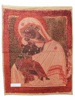 """Immagine di 'Arazzo sacro """"Madre di Dio della Tenerezza"""" - dimensioni 90x70 cm'"""