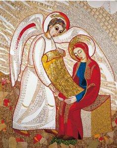 Copertina di 'Quadro stampa cm 10x15 - Annunciazione di Padre Rupnik'