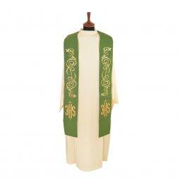 Copertina di 'Stola verde con  cristogramma IHS in stile gotico'