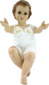 Copertina di 'Gesù Bambino per presepe, dipinto a mano e con occhi in cristallo - 46 cm'