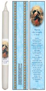 Copertina di 'Candela Maria che scioglie i nodi con preghiera in italiano - 4,5 x 25,5 cm'