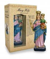 Statua Ausiliatrice da 12 cm in confezione regalo - versione INGLESE di  su LibreriadelSanto.it