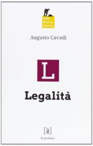 Copertina di 'Legalità.'