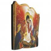 Immagine di 'Libro sagomato con Natività in lamina oro - dimensioni 11x15 cm'