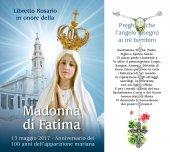 Libretto Rosario con immagine del Santuario della Madonna di Fatima e rosario