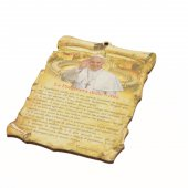 "Tavoletta sagomata ""La Preghiera delle 5 dita"" - Papa Francesco"