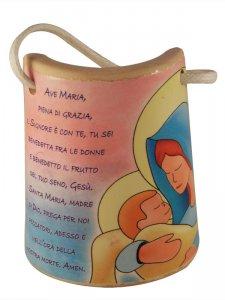 """Copertina di 'Tegola in ceramica """"Ave Maria"""" - altezza 8,5 cm'"""