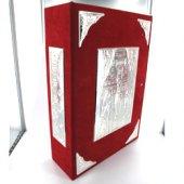 Coprimessale rosso in alcantara e argento di  su LibreriadelSanto.it