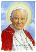 Mini Poster con immagine San Giovanni Paolo II cm 29,7 x 42