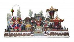 Copertina di 'Villaggio natalizio gigante con luna park, movimento, luci, musica (85 x 50 x 60 cm)'