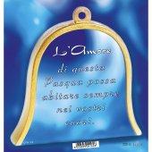 """Immagine di 'Icona in legno a campana """"Gesù Buon Pastore"""" - altezza 10 cm'"""