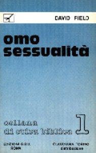 Copertina di 'Omosessualità'