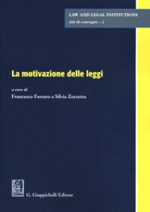 Copertina di 'Motivazione delle leggi'