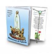 Libretto con Rosario Madonna di Fatima - italiano