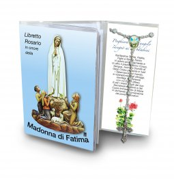 Copertina di 'Libretto con Rosario Madonna di Fatima - italiano'