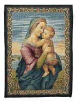 """Arazzo """"Madonna con Gesù Bambino"""" (33cm x 25cm)"""