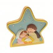 Natività su stella per bambini linea Cortesi - dimensioni 8,5x9 cm