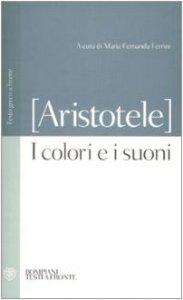 Copertina di 'I colori e i suoni. Testo greco a fronte'