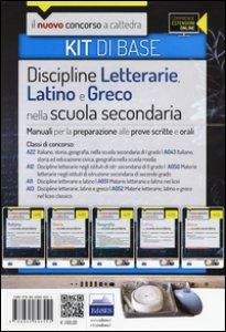 Copertina di 'CC 4/6 discipline letterarie, latino e greco. Manuali... Classi di concorso: A22, A043, A12, A050, A11, A051, A13, A052. Kit di base. Con espansione online'
