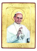 Icona S. Paolo VI, produzione greca su legno - 25,5 x 18,5 cm
