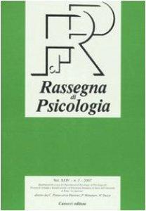 Copertina di 'Rassegna di psicologia (2007)'