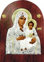 Icona ad arco Vergine Maria di Gerusalemme cm 15x20 di  su LibreriadelSanto.it