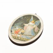 "Icona ovale ""Angelo custode"" - dimensioni 14,5x10,5 cm"