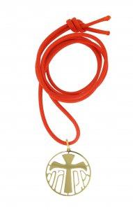 Copertina di 'Ciondolo in argento 925 dorato con simbolo Tau'