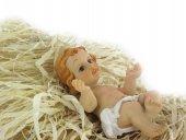 Immagine di 'Gesù Bambino da 10 cm con simil-paglia per culla'
