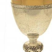 Immagine di 'Calice argentato e zigrinato con nodo inciso - altezza 20 cm'